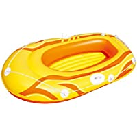 61052 Canotto gonfiabile Bestway di colore giallo 197 x 115 cm per bambini e adulti. MWS