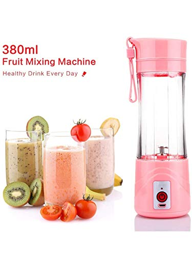 Reyansh Enterprises Portable USB Juicer Maker Juicer Blender Mixer Bottle Machine (Random Colors)