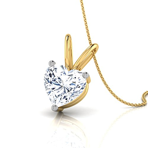 Or jaune 18 K 0,4 CT TW Round-cut-diamond (IJ | SI) Pendentif