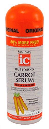 Fantasia Sérum capillaire lustreur Bonus Carrot Growth - Renforce et revitalise les cheveux - Formule sans alcool - 170 ml