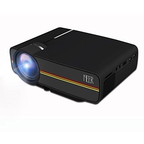 amer, 1200 Lumen 1080P HD Projektor mit VGA HDMI AV USB TF Karte Schnittstelle, Verbindung mit TV-Box / Spielkonsole / iPhone(iPad) / Laptop / MacBook / TV mit HDMI Kabel, Schwarz (Halloween-power Point)