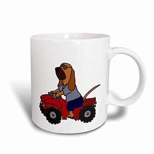 und Redneck Hund mit ATV Tasse, Keramik, rot, 11,43x 8,45x 12,7cm ()