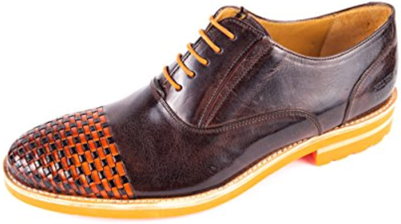 Melvin & Hamilton MH15-620 - Zapatos de Cordones de Piel Lisa para Hombre Marrón Marrón 41 EU -