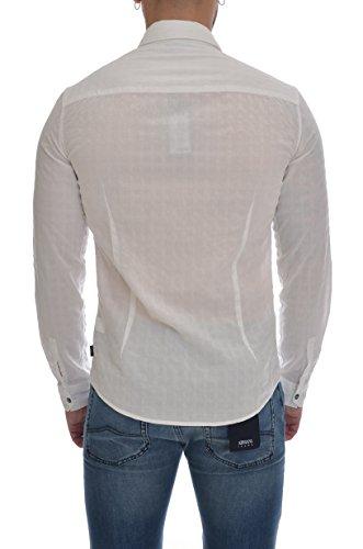 Emporio Armani 3y6c246n2gz, Chemises Décontractées Homme Bianco