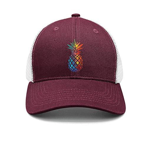 CrownLiny Watercolor Pineapple Trucker Cap with Mesh Adjustable Hat Caps