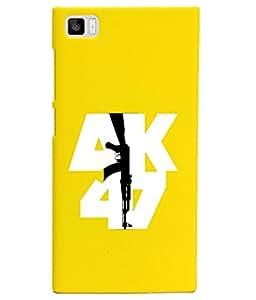 KolorEdge Back Cover For Xiaomi Mi 3 - Yellow (1038-Ke15110XiaomiMi3Yellow3D)
