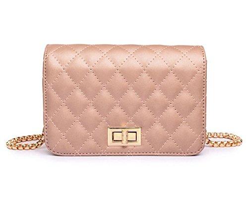 Spiraea Lingge Borsa Della Borsa Della Catena Moda Casual Bag Mini Messenger Tracolla Minimalista Pink