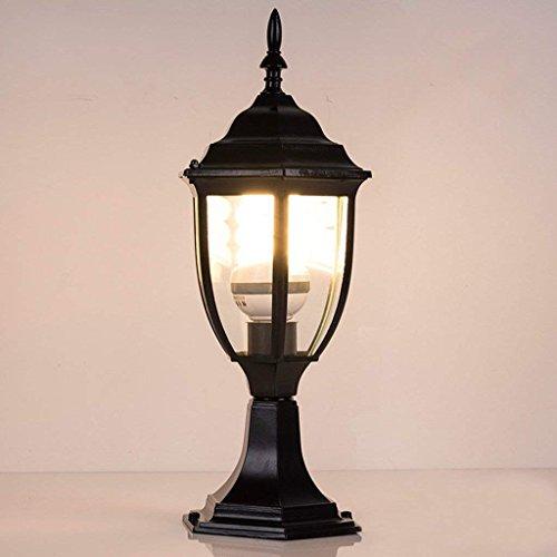 MoMo Pfosten-Lichter, Traditionelles Schwarzes, Bronzen-Farbe Ip68 im Freiengarten-Lampen-Pfosten-Laterne-Licht, nordischer Art,Schwarz