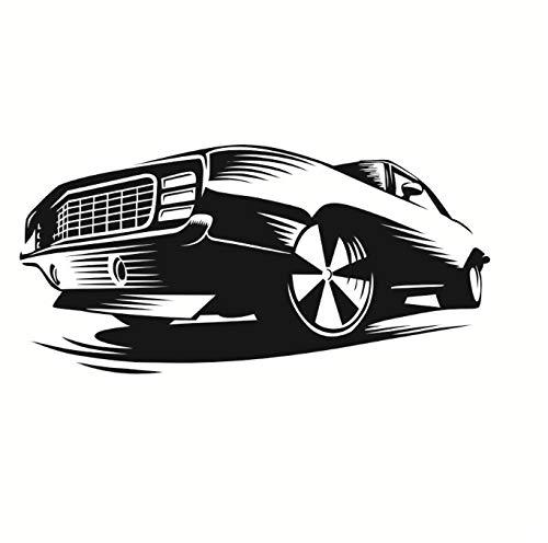 Schlafzimmer Nautische Kopfteil (floolter Wandaufkleber Race Muscle Car Wandtattoos Dekor Aufkleber Kunst Vinyl Wand Automobil Schönes Design Kunst Kopfteil Wandaufkleber Wohnkultur 116 cm X 58 cm)