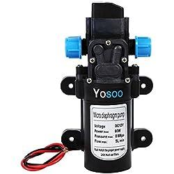 Yosoo - Bomba de agua automática de alta presión para camper, caravana, barco, jardíno camión, CC 12V, 60W, 115 PSI, 5 l/m