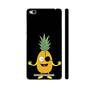 Colorpur Pineapple Pirate with Eye Patch Printed Back Case Cover for Redmi 3S