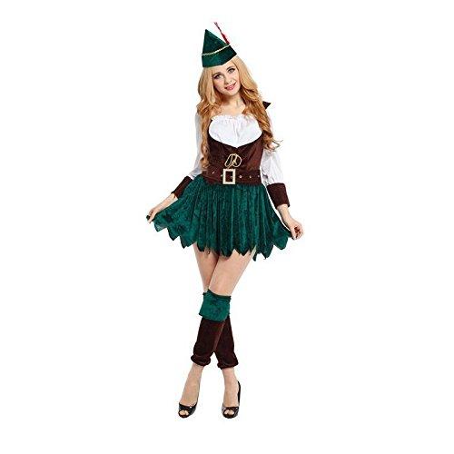 Damen Sexy Robin Hood-kostüm Peter Pan Erwachsene Maid Marion Kostüm 8-12 (Maid Marion Kostüm Kostüm)