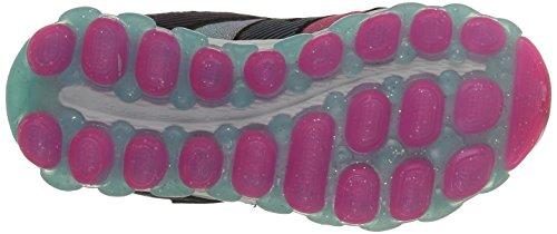 Skechers Air UltraGlam It Up, Baskets Basses Fille Noir (Bkmt Noir/Multicouleur)