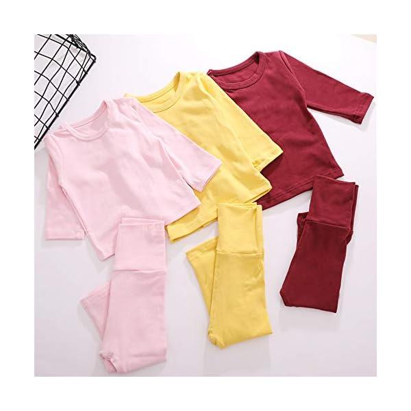 Eastern Corridor-EU - Conjunto de ropa interior térmica para bebés y niños (algodón, 2 piezas), color rosa gris oscuro… 3