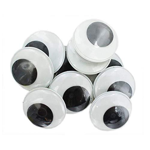 Deanyi Runde Kunststoff Selbstklebende Schwarz Googly Wiggle Augen für kreative DIY Projekte Craft Aufkleber 100Stk Bürobedarf (Wiggle-aufkleber)