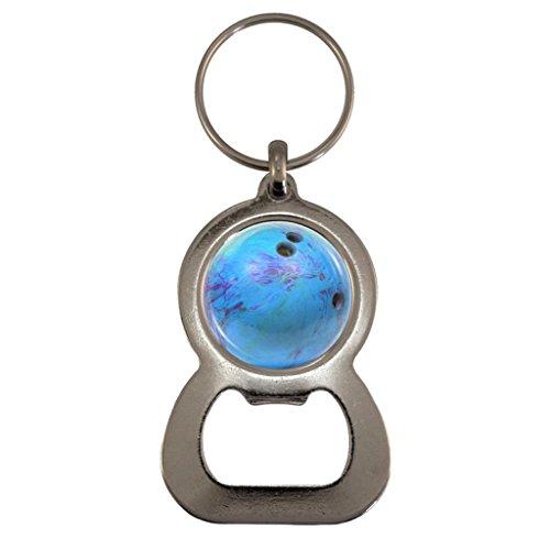 Blau Bowling Kugel Metall Flaschenöffner Schlüsselanhänger in Geschenk-Box