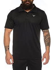 Raff & Taff Polo Shirt Fitness Shirt hochwertiges Atmungaktives Funktionsshirt T-Shirt Freizeit Shirt