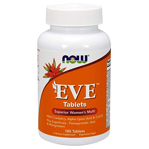 Now Foods | Eve | Superior Multivitamin für Frauen | 180  Tabletten | Vegan | Vegetarisch | ohne Gentechnik | Glutenfrei - B-12 250 Mcg 100 Tabletten