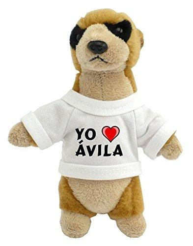 Suricata personalizada de peluche (juguete) con Amo Ávila...
