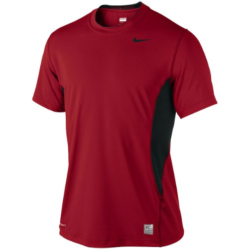 NIKE T-shirt manches courtes Hypercool Fitted rot