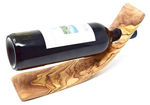 Lashuma Premium Weinflaschenhalter | Holz Flaschenständer | 100% Olivenholz | edle Handmade...
