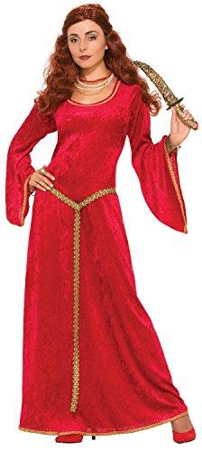 Fancy Me Damen Lange Rubin-Priesterin, TV-Film, Prinzessinnen-Thron-Spiel Weltbuch Tag Woche Karneval Halloween Kostüm Outfit UK 10-14
