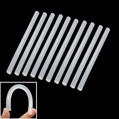 Werkzeug- 10 Stück praktische transparente weiße Hot Melt Klebestift, Größe: 270 x 7 mm -