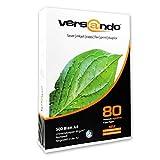 Versando - Ramette de 500 feuilles de papier machine 80 Extra blanc DIN A4 80 g/m pour photocopier/i
