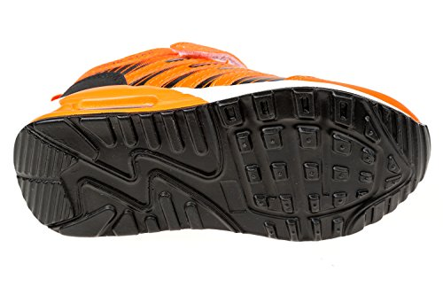 GIBRA® Enfants Chaussures de sport, avec fermeture velcro, Orange Fluo, Taille 25–35 Orange - Orange fluo