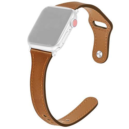 htfrgeds Universal-Uhrenarmbänder, Für Apple Watch Series 1/2/3/4 42 / 44mm Deluxe-Leder-Denim-Armband-Uhrenarmband, Anwendbare Länge: 19 mm-235 mm (19mm Uhrenarmband Lange)