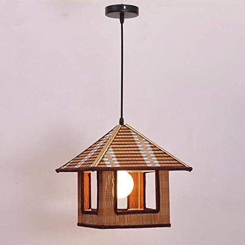 Retro Kronleuchter, Vintage Kreative Licht Eisen Hütte Bambus Deckenleuchten, 30 * 30 * 30 Cm Kein Licht Restaurant Dekoration Anhänger Beleuchtung NANGE