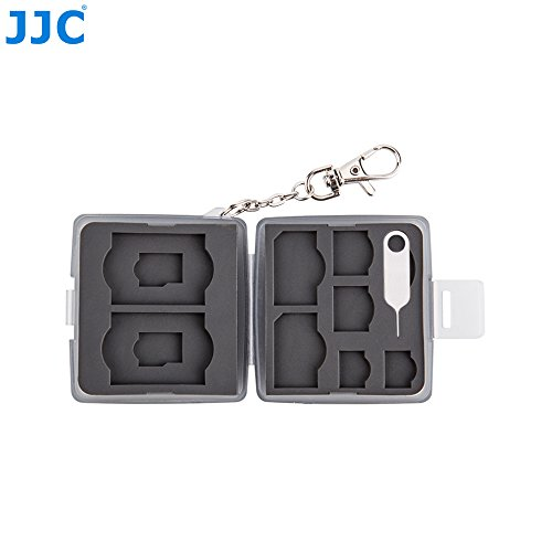 JJC MC-10D Custodia Nera SCHEDA DI MEMORIA PER SD 2x 2x Micro Nano SIM MSD 2x SIM 2x 2x