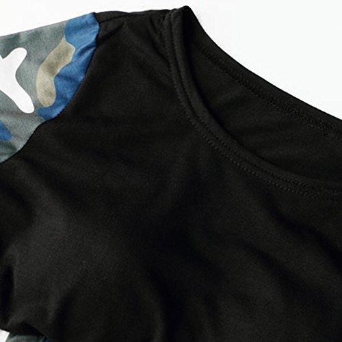 Femmes Manches Longues Camouflage T Shirt Leggings Pantalons De Sports Workout Gym Fitness Vert Haut