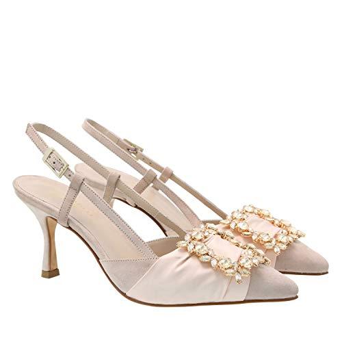 Sandal Natalia, 38, Powder pink Jewel Strap Sandal