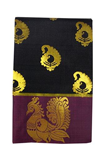Saravanabava Silks Silk Cotton Saree (Srbs00042-B_Mango Yello)