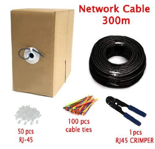 MutecPower Cable de Red ethernet Cat5E Exterior - con Herramienta de crimpado - FTP - CCA - (300 Metros)