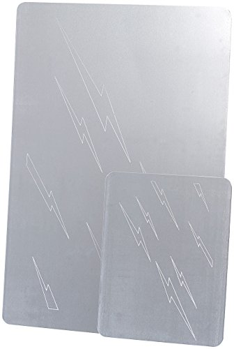 AGT Silberreiniger: Reinigungsplatten für Silber, große & kleine Platte im 2er-Set (Silbertauchbad)