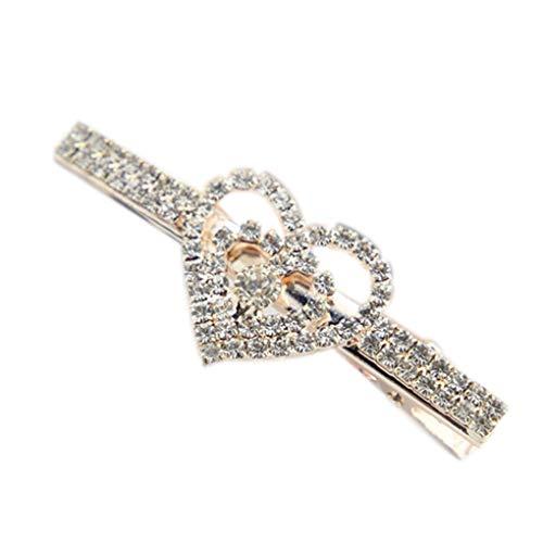 IMHERE W U Perlen-Kristallherz-Haarspange Frauen-Mädchen-Kind-Kristallblumen-Bowtie Haarpin Clamp Barrettes Kinder Bowties