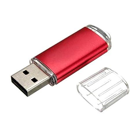 USB 2.0Flash Drive 1GB/2GB/4GB/8GB/16GB/32GB, Transer® Flash Drive USB 2.0Metall Flash Memory Speicher Stick Speicher Daumen U Disk USB-Stick mehrfarbig rot 1 (Encrypted Disk-)