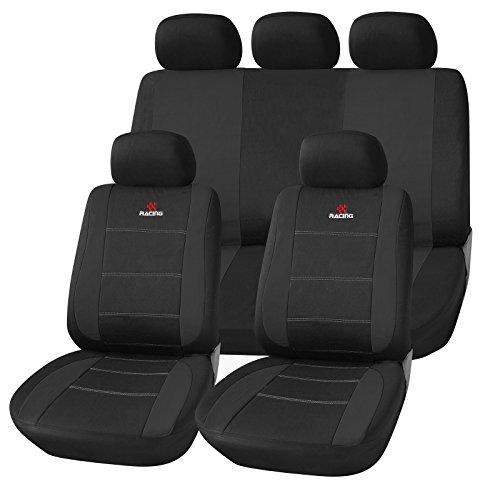 EUGAD Sitzbezüge Universal für Auto Schonbezüge Sitzbezug Schonbezug Set Sitzauflage Polyester Schwarz AS7315sz