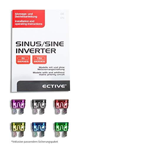 ECTIVE SI-Serie | Sinus Wechselrichter 2000W | 12V zu 230V | 7 Varianten: 300W – 3000W | 12 Volt 2000 Watt Spannungswandler DC auf AC, 12 V auf 230V Stromwandler, Inverter mit reiner Sinuswelle - 5