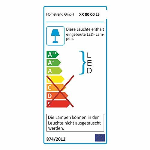 Wohnkombination in Weiß Hochglanz Eiche hell (4-teilig) LED Beleuchtung Pharao24 - 2