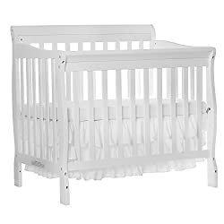 Dream On Me 3 in 1 Aden Convertible Mini Crib, White