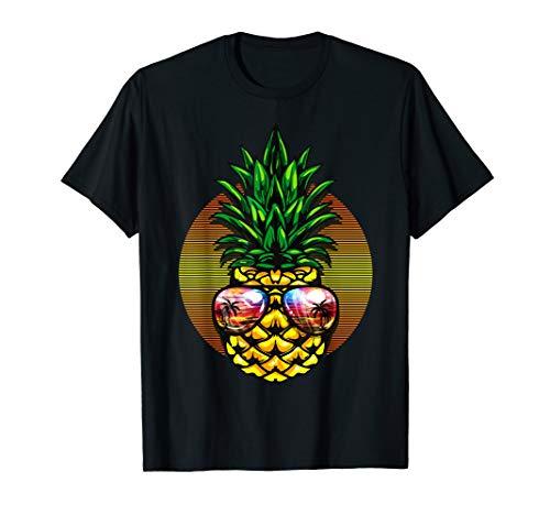 Ananas Aloha Hawaiianische Strandsonnenbrille Geschenkhemd T-Shirt