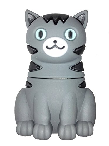 Katze 8 GB - Puss Cat - Memory USB Stick Data Storage - Speicherstick - Pen Drive - Grau Schwarz - Einzgartiges Original Design Original Oem Usb