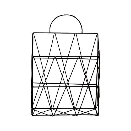 DAYOLY Zeitungshalter für die Wand Zeitungsständer Metall Letters Storage Dateien Ordner Lagerbehälter Display-Ständer für das Badezimmerbüro oder Wohnkultur (Schwarz) - Wand-dateien Hängende