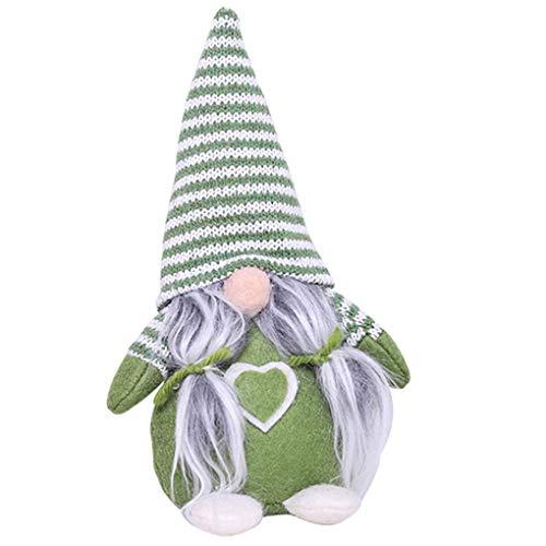 Zerama Stripe Seduto Faceless Doll Decorazione di Natale Figurine di Natale Casa Inverno Table Ornamenti