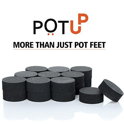 Unsichtbare Blumentopf-Füße von Pot-up, Weniger Staunässe unter Blumenkübeln und Containern, 20 Stück für 5-6 Pflanzenkübel | Hochwertige Topf-Füße aus Gummi – für alle Blumentopf-Größen geeignet (Regular)
