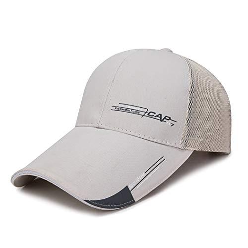 Ozq-hat Baseball Cap Halbe Mesh verstellbare Mütze Hut Unisex Polo Stil klassischen Sport Casual Plain Sommer Sonne Hut Peaked Cap,Gray,M (Plain Sonne Hut)