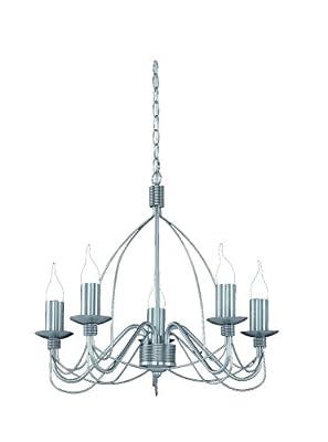 Trio-Leuchten 179610507 Energiespar-Krone,5xE14,7W Windstoßkerze,Nickel matt von Trio Leuchten auf Lampenhans.de